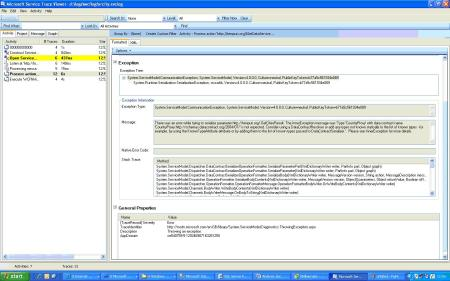 Types Passed To Datacontractserializer Please See Innerexception For More Details